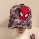 Spider-Man Boys Baseball Cap - Grey Comic Strip - Personalized