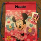 Disney MINNIE MOUSE Drawstring Backpack Sling Bag – Personalized