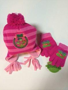 Girls TMNT Teenage Mutant Ninja Turtles PINK Hat & Gloves Set Personalized