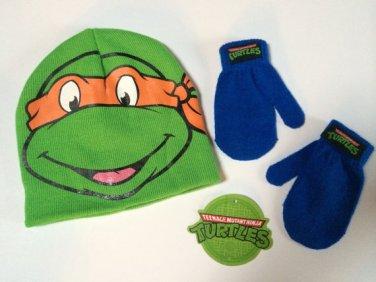 TMNT Teenage Mutant Ninja Turtles Hat & Mittens Set - Boys - Personalized