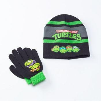 TMNT Teenage Mutant Ninja Turtles Hat & Glove Set - Boys - Personalized
