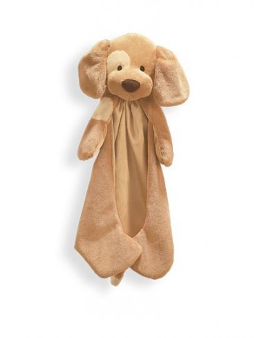 "Baby Gund Spunky Huggybuddy Dog Brown Blanket - 15"" - Personalized"