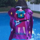 Guitar playing Girl Rock Star Cotton Beach Poncho Towel Personalized