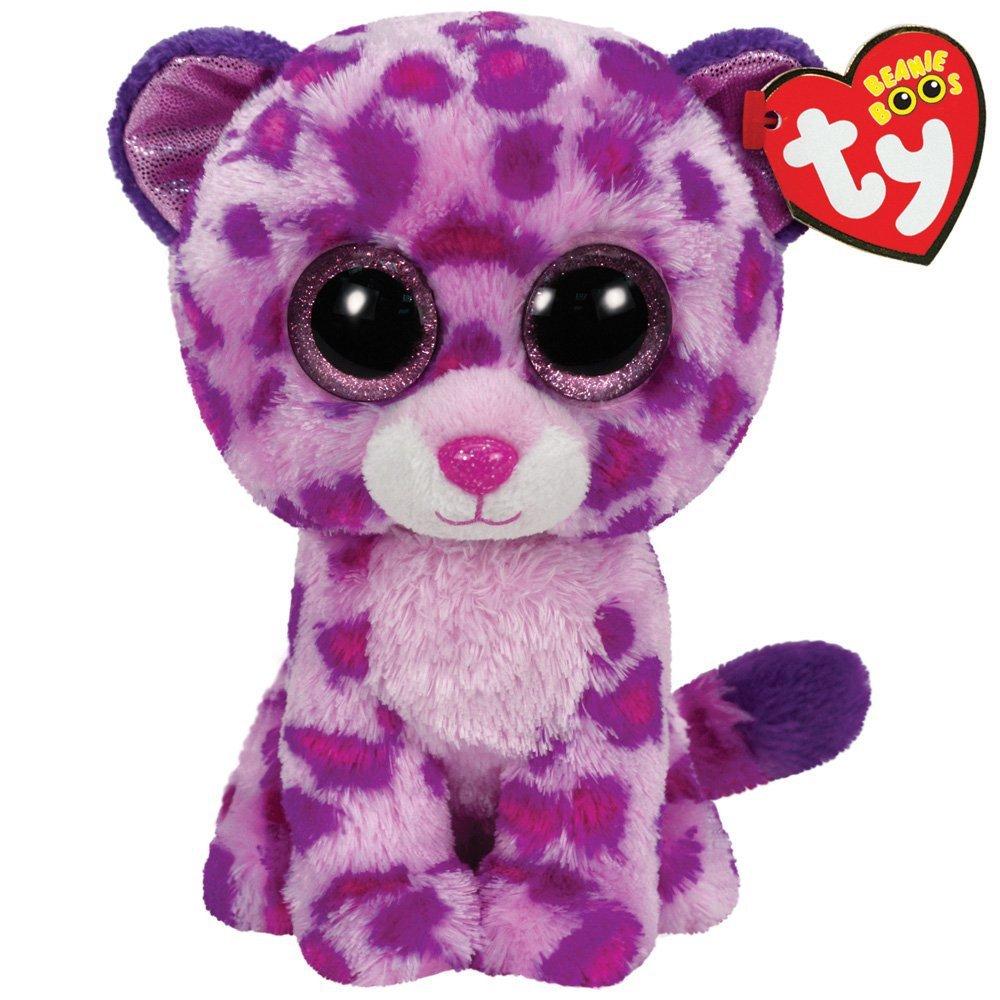 Ty Beanie Boos Glamour Leopard Plush, Pink 36085