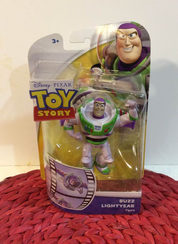 DISNEY PIXAR TOY STORY Buzz Lightyear FIGURE POSABLE IN BOX