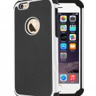 "Shockproof Rugged Hybrid Rubber Hard Cover Case for iPhone 6 4.7"" - White"