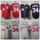Bryce Harper 2015 Washington Nationals #34 Replica Baseball Jersey Multiple styles