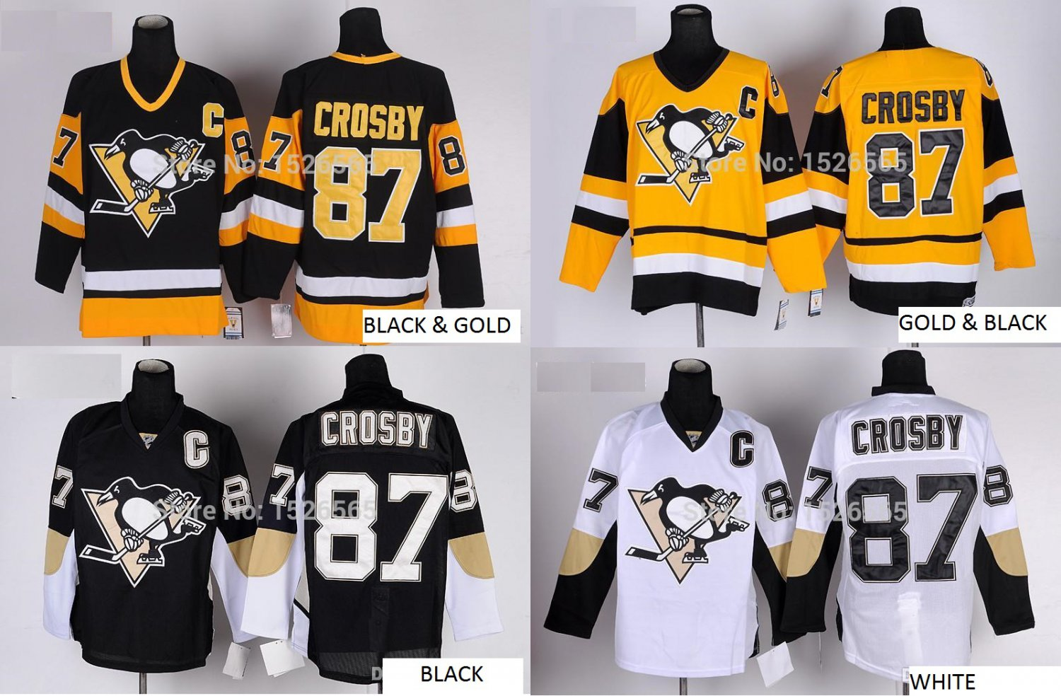 Sydney Crosby Pittsburgh Penguins #87 Replica Hockey Jersey Multiple styles