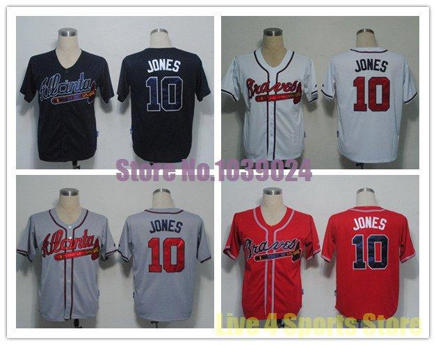 Chipper Jones Atlanta Braves  #10  Replica Baseball Jersey Multiple styles