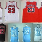 Michael Jordan Chicago Bulls North Carolina Tar Heels #23 Replica Basketball Jersey Multiple Styles