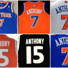 Carmelo Anthony New York Knicks #7 Syracuse #15 Replica Basketball Jersey Multiple Styles