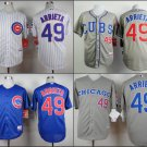 Jake Arrieta  Chicago Cubs #49  Replica Baseball Jersey Multiple styles