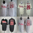 Philadelphia Phillies #26 Chase Utley Replica Baseball Jersey Multiple styles