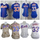 Women's New York Mets Matt Harvey #33 Replica Baseball Jersey Multiple styles