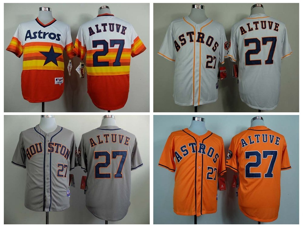 Houston Astros  Jose Altuve #27 MLB  Replica Jersey