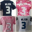 Women's Russell Wilson #3 Seattle Seahawks Replica Football Jersey Multiple styles