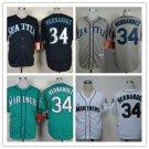Felix Hernandez Seattle Mariners #34 Replica Baseball Jersey Multiple styles