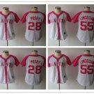 Women's  Giants Jersey Buster Posey #28 ,Tim  Lincecum #55 MLB  Replica Jersey