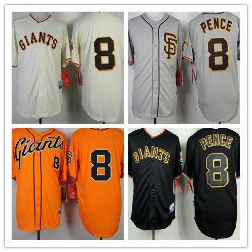 Hunter Pence  San Francisco Giants #8 Replica Baseball Jersey