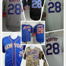 Daniel Murphy 2015 New York Mets #28  Replica Baseball Jersey Multiple styles