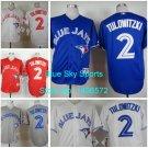 Troy Tulowitzki Toronto Blue Jays  #2  Replica Baseball Jersey Multiple styles