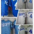 Alex Gordon Kansas City Royals #4  Replica Baseball Jersey Multiple styles