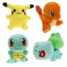4 peice New Pokémon toy plush Pikachu, Squirtle, Charmander & Balbasaur