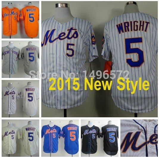 David Wright New York Mets #5 Replica Baseball Jersey Multiple styles