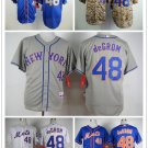 Jacob deGrom New York Mets #48 Replica Baseball Jersey Multiple styles