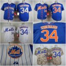 Noah Syndergaard New York Mets #34 Replica Baseball Jersey Multiple styles