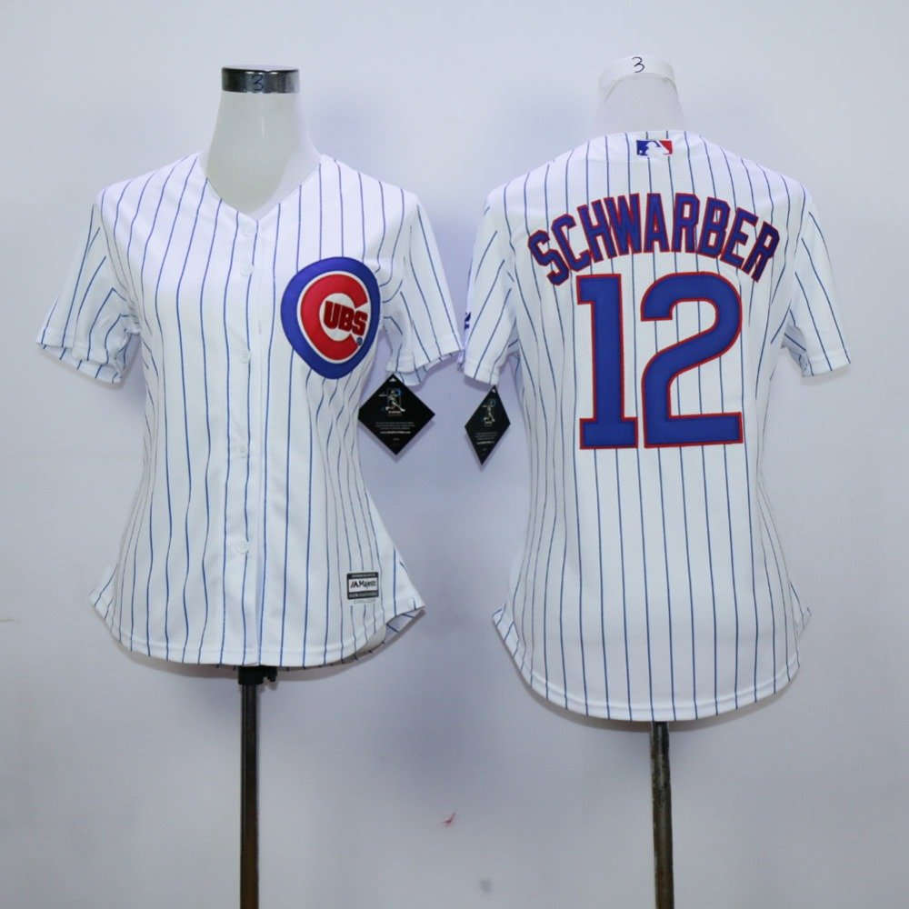 Womens Kyle Schwarber  2015 Chicago Cubs #12MLB Replica Jersey Multiple styles
