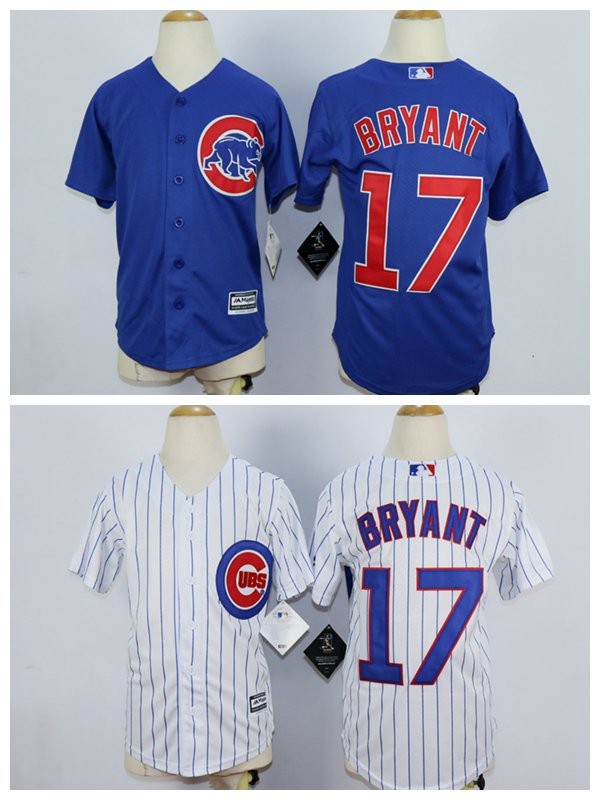 YOUTH Kris Bryant 2015 Chicago Cubs #17 MLB Replica Jersey Multiple styles