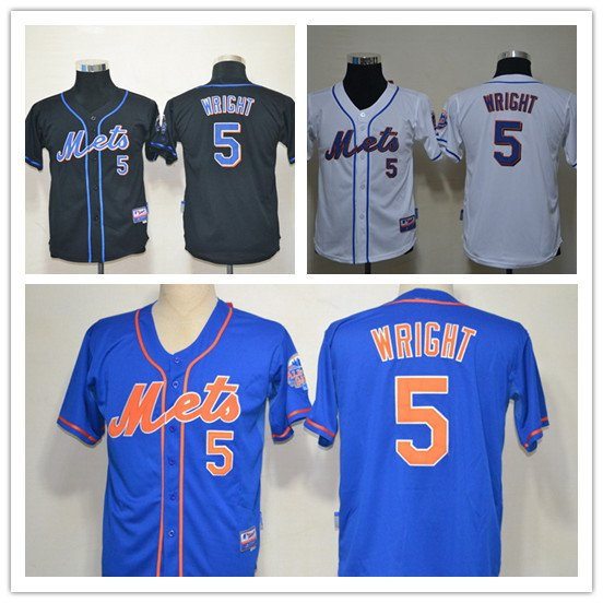 YOUTH David Wright 2015 New York Mets #5 Replica Baseball Jersey Multiple styles