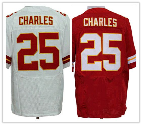 Jamaal Charles #25 Kansas City Chiefs Replica Football Jersey Multiple Styles