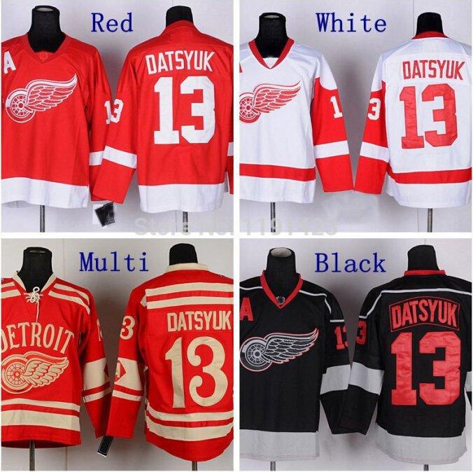 Pavel Datsyuk #13 Detroit Redwings Replica Hockey Jersey Multiple Styles