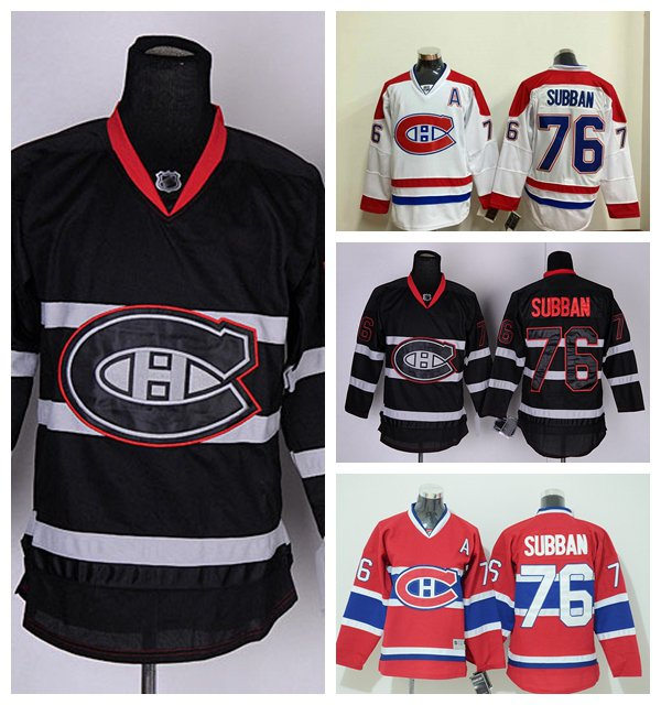 P.K Subban #76 Montreal Canadiens Replica Hockey Jersey Multiple Styles