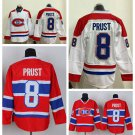 Brandon Prust #8 Vancouver Canucks Replica Hockey Jersey Multiple styles