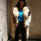 Hooded Red Fox Sectional Fur Coat (#23)