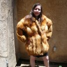 Fox Fur Jacket / Leather sleeves (#32)