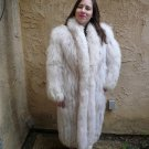 Blue Fox Full Length Fur Coat (#36)