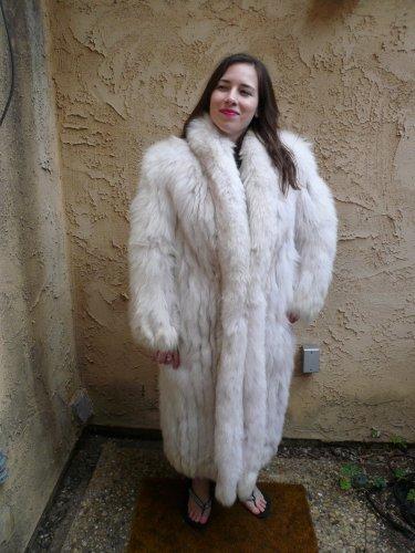 Blue Fox Full Length Fur Coat (#36)