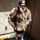 Short Brown Fox Fur Jacket (#39)
