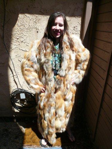 Red Fox Full Length Sectional Fur Coat (#43)