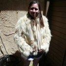 Fox/Coyote? White short Fur Coat (#59) Small