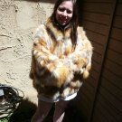 Red Fox Fur Jacket Bat Wing Sleeves (#60)