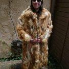 Large Full Length Red Fox Fur Coat (#70)
