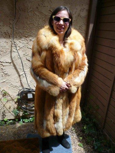 Full Length Red Fox Fur Coat (#73)