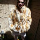 Red Fox Fur Jacket (rope belt) (#92)