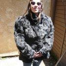 Black Rabbit Fur Jacket (#106)