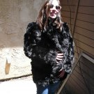Black Rabbit Fur Jacket (#108)